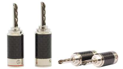 Goldkabel Executive Hohlbanana Rhodium, 4er Set