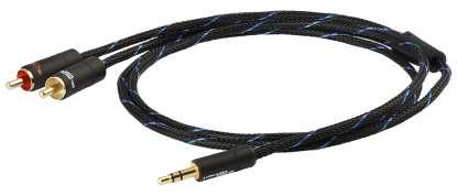 Goldkabel Black Connect 3,5 Jack / Cinch Mk II