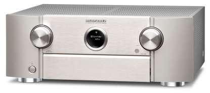 Marantz SR 6015 AV-Receiver 11.2 Kanal Full 8K Ultra HD mit Heos, AirPlay2, Alexa silber/gold