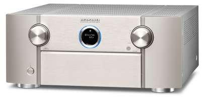 Marantz SR 8015 AV-Receiver 11.2 Kanal Full 8K Ultra HD mit Heos, AirPlay2, Alexa silber/gold