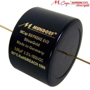 Mundorf M-Cap SUPREME EVO Silber/Gold 1000 VDC