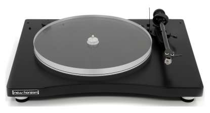 New Horizon 201 Turntable incl. Dust Cover and Cartridge AT-3600L in black