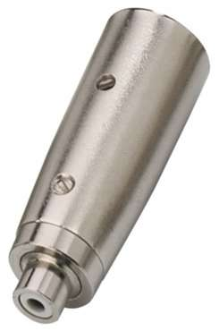 Monacor NTA-114 XLR-Adapter Cinch > Male
