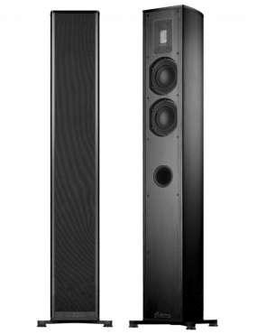 Piega Premium 501 Stand-Lautsprecher schwarz, Stoff schwarz