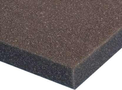 Polyesterschaumstoff 25 mm 1000x1000x25 mm, schwarz