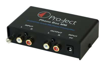 Pro-Ject Phono Box MM Preamplifier, Black