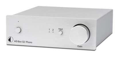 Pro-Ject A/D Box S2 Phono MM/MC Phono-Vorverstärker silber