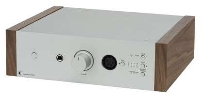 Pro-Ject Head Box DS2 B headphone-amplifier silver - Walnut