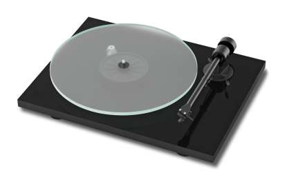 Pro-Ject T1 turntable with Ortofon OM5E cartridge high gloss black