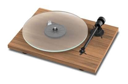 Pro-Ject T1 Plattenspieler mit Ortofon OM5E Tonabnehmer Walnuss