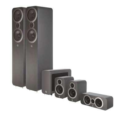 Q-Acoustics 3050i Cinema Pack 5.1 incl. Aktiv-Subwoofer 3060s
