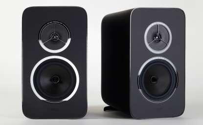 Rega Kyte Regal-Lautsprecher, schwarz
