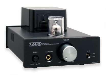 Taga THDA-500T v.2 Vakuumröhrenkopfhörer DAC - Verstärker, schwarz