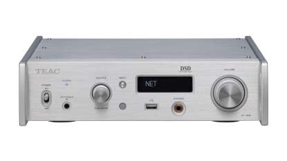 Teac NT-505 USB DAC/Network Player supporting DSD512 and PCM32/768 silver