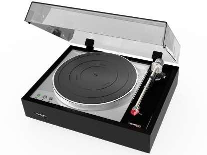 Thorens TD 1600 Plattenspieler ohne Tonabnehmer hochglanz schwarz