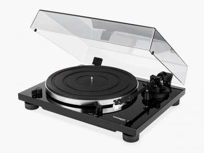 Thorens TD 201 Plattenspieler mit MM Phono Vorstufe hochglanz schwarz