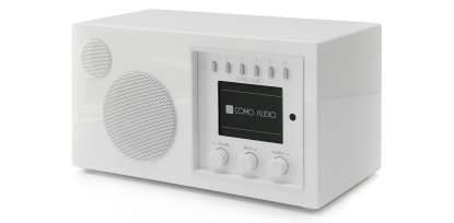 Como Audio Solo DAB+ Radio with Bluetooth, WiFi, Spotify and Remote highgloss white