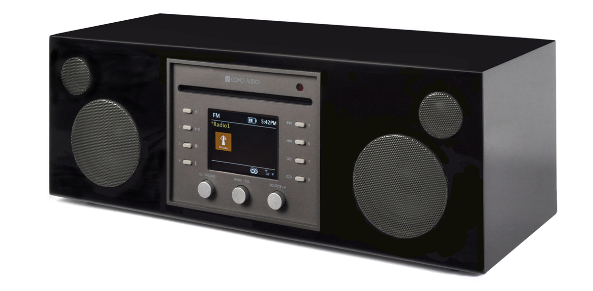 Como Audio Musica CD-Player, DAB+, with Bluetooth, WiFi, Spotify and Remote, piano black (checked return)