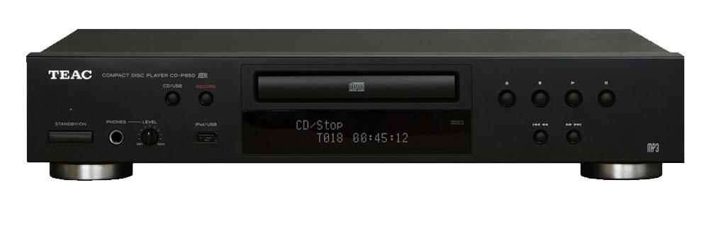 Teac CD-P650 CD-Player mit USB-Aufnahme, schwarz