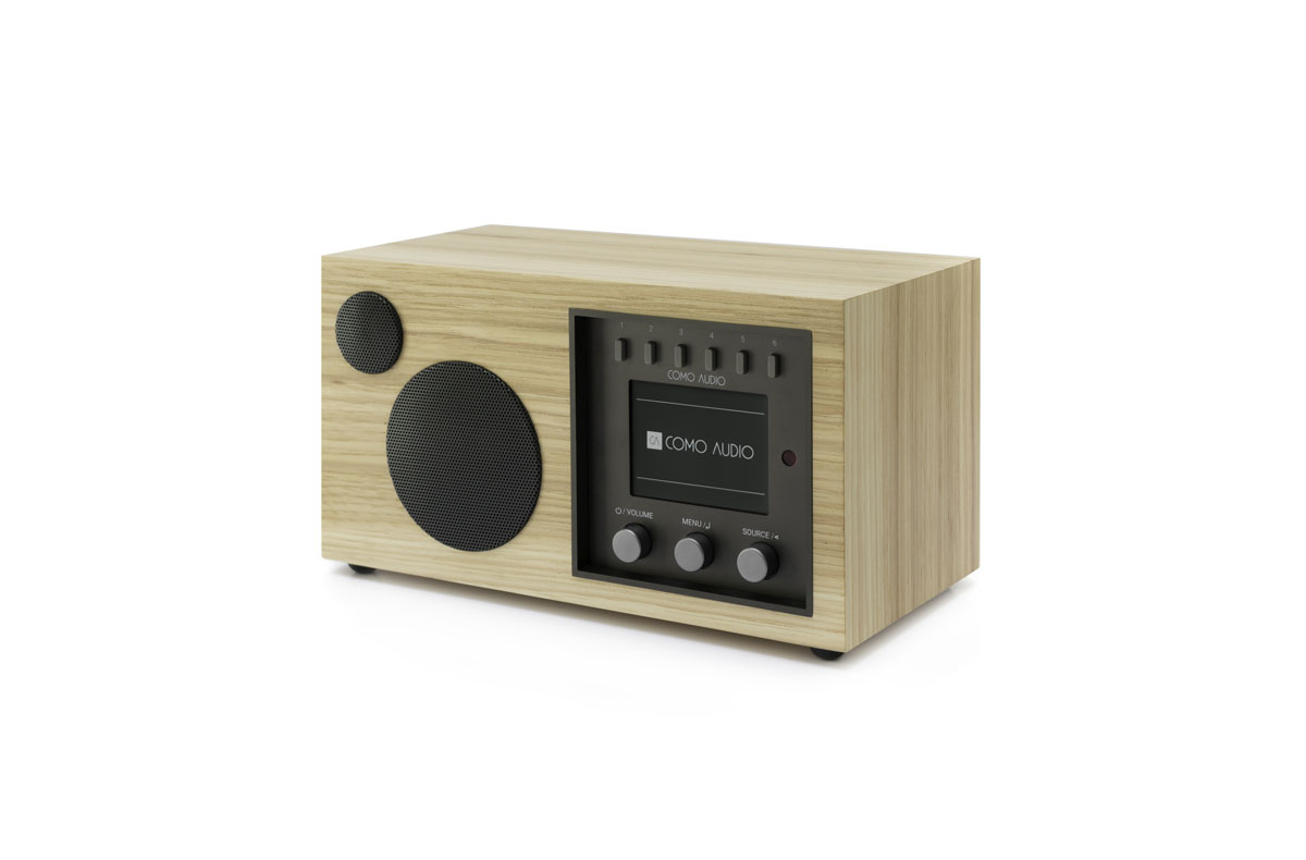 Como Audio Solo DAB+ Radio with Bluetooth, WiFi, Spotify and Remote, hickory (checked return)