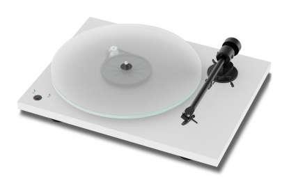 Pro-Ject T1 Phono SB Plattenspieler mit Ortofon OM5E, weiß (geprüfte Retoure)