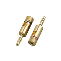 Monacor Banana Plug BP 150 G Gold Plated