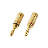 Monacor Bananenstecker BP 100 Gold Plated