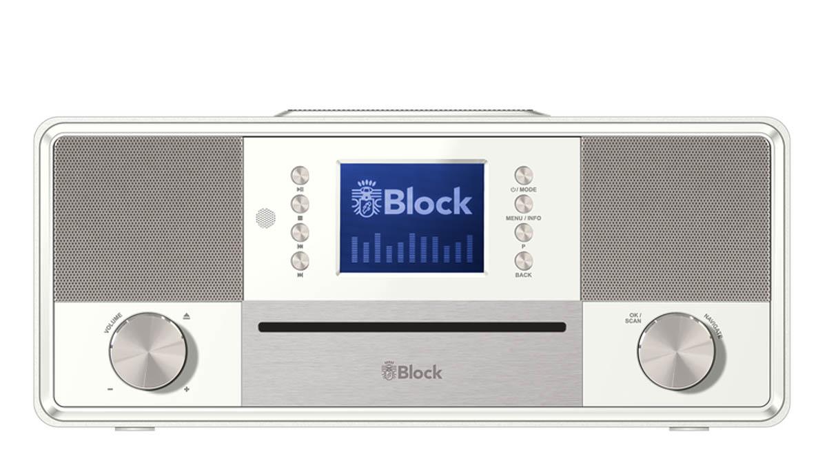 block sr 50 smart radio mit cd player weiss kaufen bei. Black Bedroom Furniture Sets. Home Design Ideas