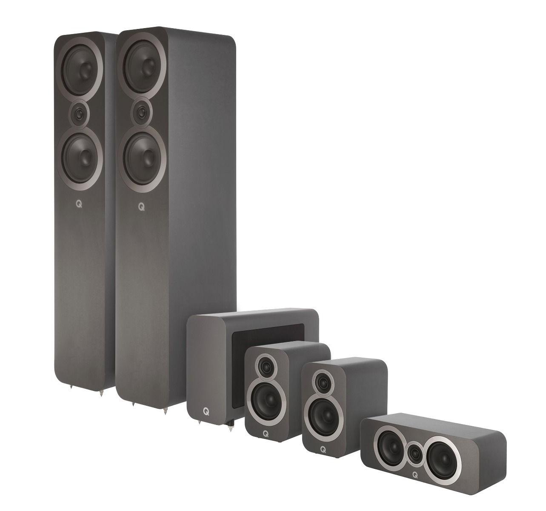 Favorit Q-Acoustics 3000i Heimkinoset 5.1 incl. Aktiv-Subwoofer kaufen bei DI75