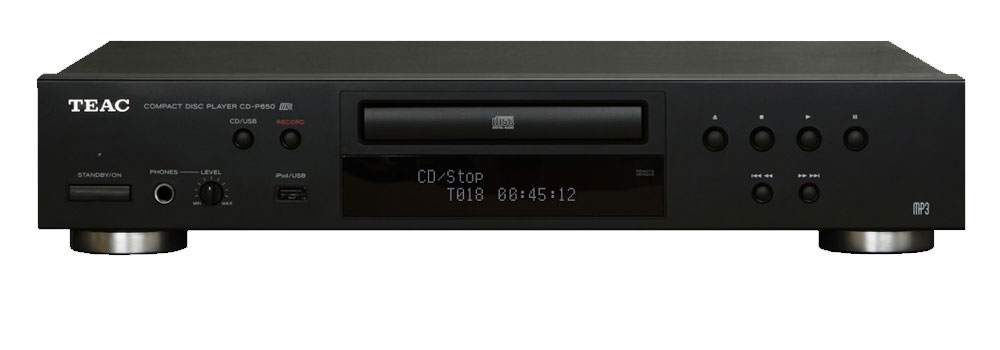 teac cd p650 cd player mit usb aufnahme schwarz kaufen. Black Bedroom Furniture Sets. Home Design Ideas